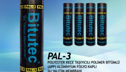 Bitutec PAL-3 Polyester Keçe & Alüminyum Folyo Kaplı Su Yalıtım Membranı