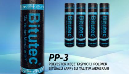 Bitutec PP-3 Polyester Keçeli Su Yalıtım İzolasyon Membranı